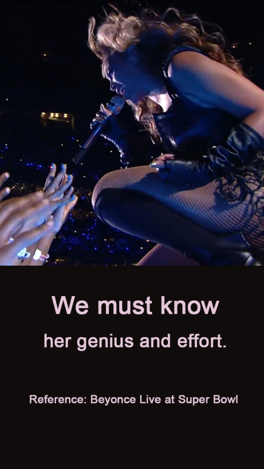 f7 We must know her genius and effort